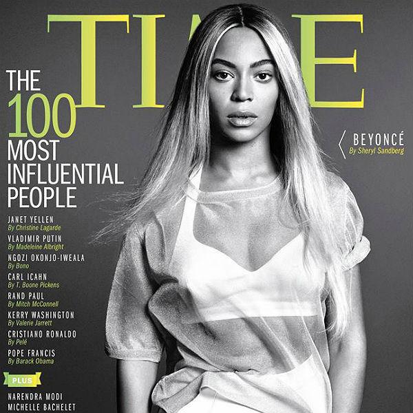 Beyonce dans les 100 stars les plus influentes au monde.