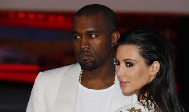 Kanye West et sa fiancée Kim Kardashian