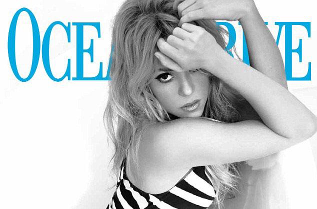 Shakira couverture d'Ocean Drive magazine 2