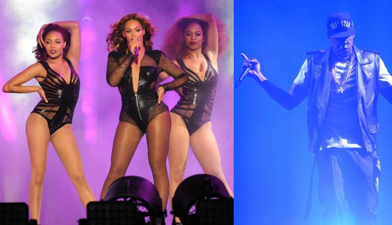 Beyoncé en consert avec Jay-z