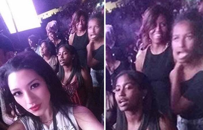 Beyonce et Jay-Z déplacent Michelle Obama et ses filles à leur concert (photo)