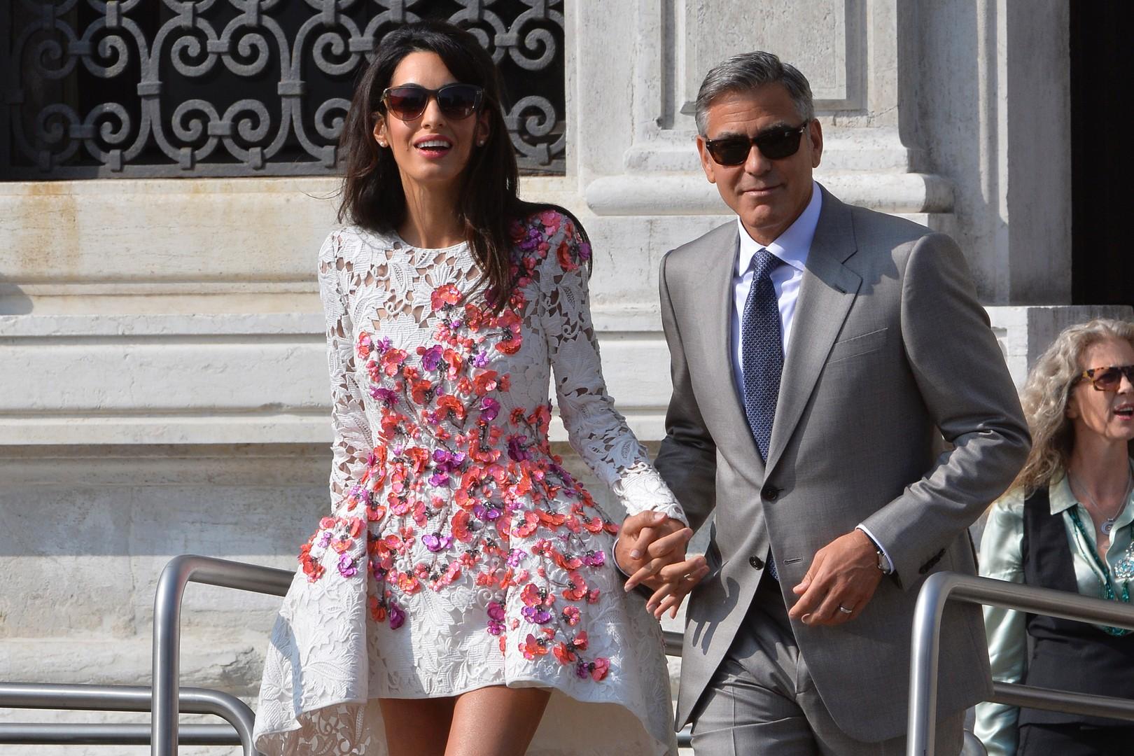 George Clooney : Les photos de son mariage sauveront des vies !