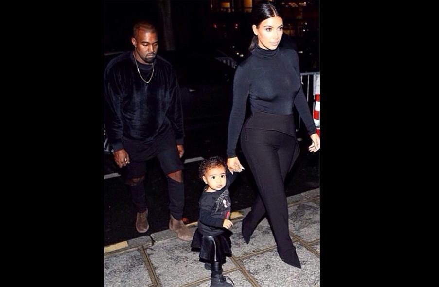 Kim Kanye et North