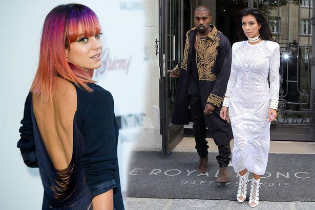 Lily Allen clash Kim Kardashian !