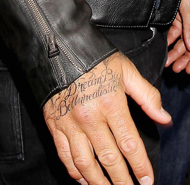 David Beckham pour un tatouage «made in Jay-Z» !