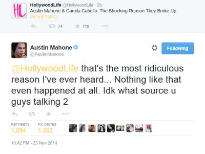Austin Mahone sur Twitter