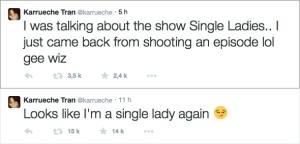 Karrueche Tran crée le buzz via son compte Twitter