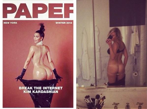 Kim Kardashian pose nue pour Paper