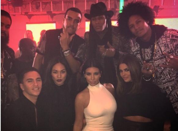 Kim Kardashian et French Montana à Dubaï