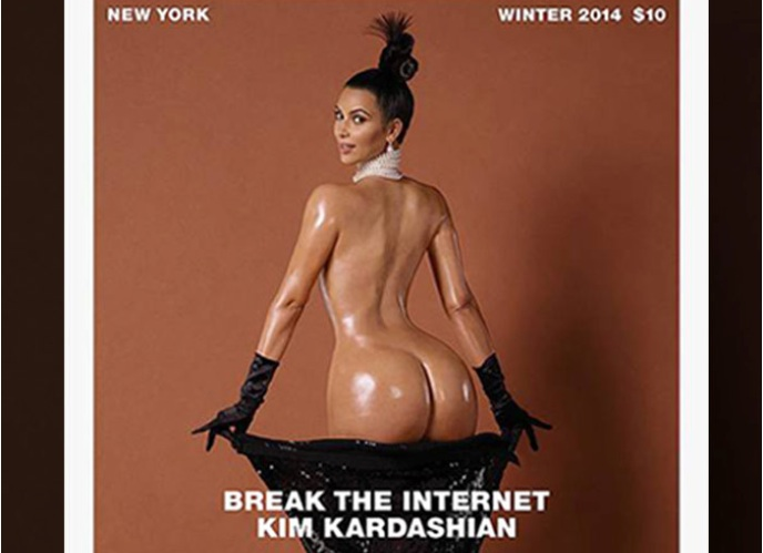 Kim Kardashian pose nue