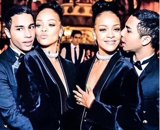 Rihanna et Olivier Rousteing en atomes crochus aux BFA 2014