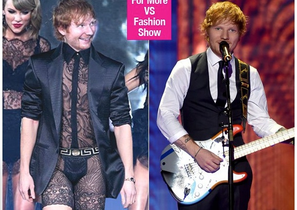 Ed Sheeran au défilé de Victoria's Secret