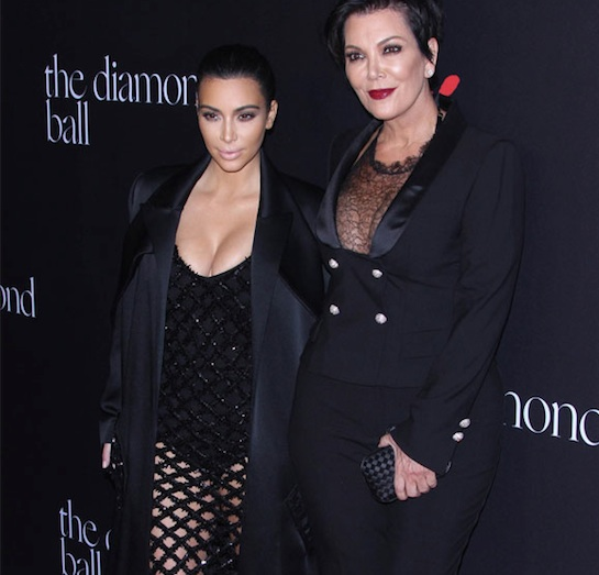 Kris Jenner et Kim Kardashian Diamonds Ball