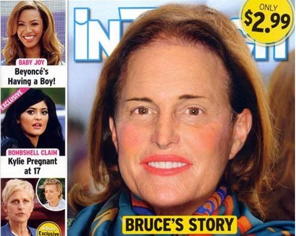 Bruce Jenner vu par InTouch Magazine