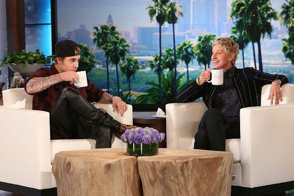 Justin Bieber lors de son deuxième passage au show d'Ellen DeGeneres