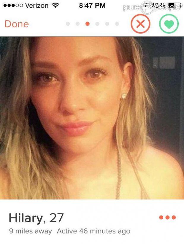 Hilary Duff sur Tinder pour rencontrer des hommes !