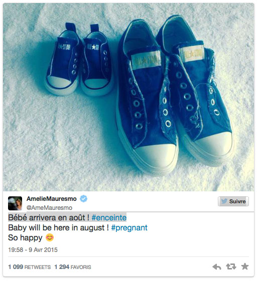 Amélie Mauresmo est-elle enceinte ?