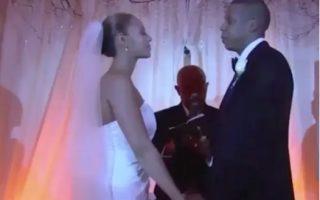 Beyoncé et Jay-Z photo de mariage