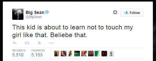 Big Sean, son twitter menaçant Justin Bieber suite à son rapprochement avec Ariana Grande