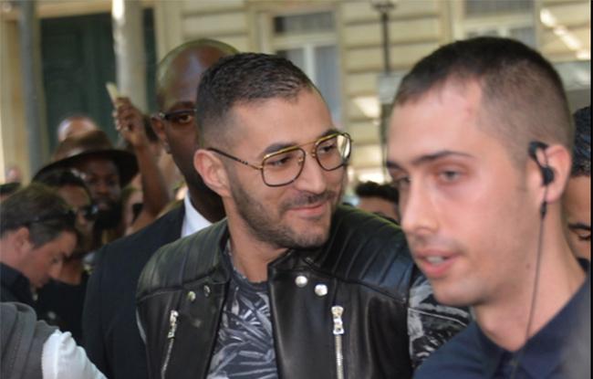 Karim Benzema et Rihanna au Defilé Balmain