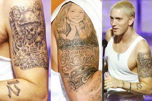 Eminem et son bras tatoué