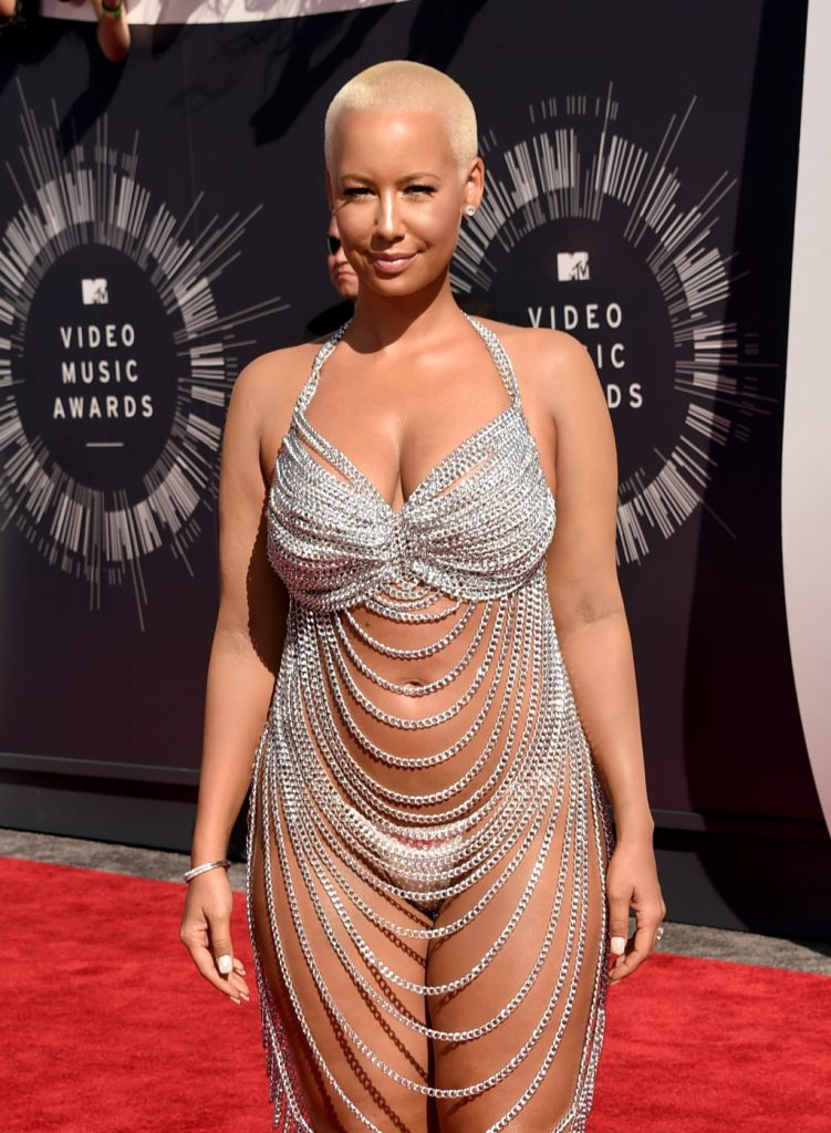 INGLEWOOD, CA - AUGUST 24: Model Amber Rose attends the 2014 MTV Video Music Awards at The Forum on August 24, 2014 in Inglewood, California. (Photo by Jason Merritt/Getty Images for MTV)