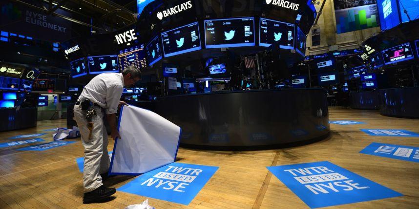 Twitter, l'inquiétante chute du titre à la boruse de New-York