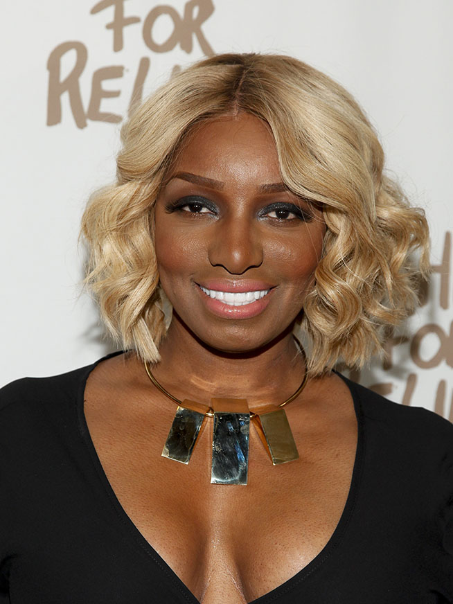 Nene Leakes attends Naomi Campbell's Fashion For Relief during Mercedes-Benz Fashion Week Fall 2015 at The Theater at Lincoln Center on Saturday, Feb. 14, 2015 in New York. (Photo by Andy Kropa/Invision/AP)