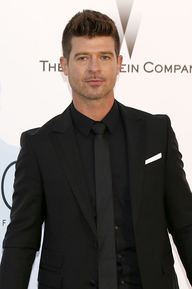 Robin Thicke attending the amfAR's Cinema Against Aids Gala during 68th Cannes Film Festival at Hotel du Cap-Eden-Roc in Antibes on May 21, 2015/picture alliance Photo by: Dave Bedrosian/Geisler-Fotopress/picture-alliance/dpa/AP Images