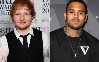 Chris Brown sur scène dans un club à Las Vegas invite Ed Sheeran à l'y rejoindre