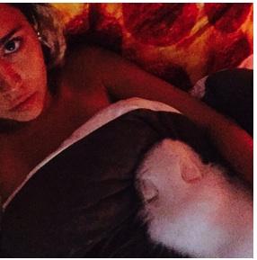 miley malade et clouée au lit