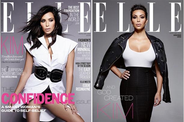 Kim Kardashian pose pour la couverture du magazine Elle