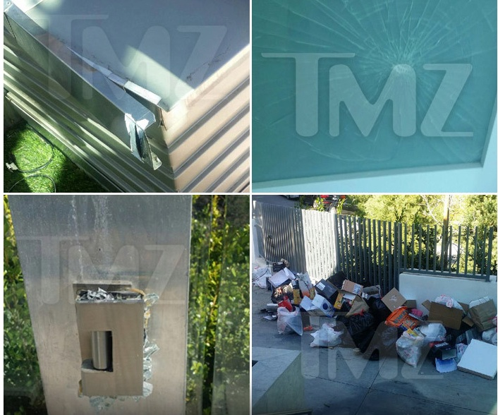 Photos du manoir saccagé de Justin Bieber