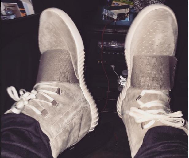 Des chaussures Yeezy postées par Justin Bieber sur Instagram