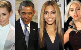 Barack Obama-Miley Cyrus-Beyonce- Lady Gaga