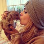 Cara Delevingne et son animal de compagnie, un lapin