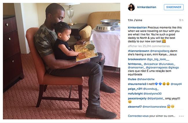 Kanye West et sa fille North