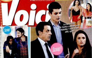 Louis Sarkozy et Capucine en une de Voici