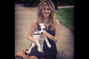 Kate Upton et son animal de compagnie